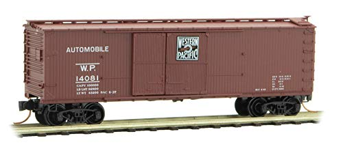 Micro-Trains MTL N-Scale 40ft Wood Box Car Western Pacific/WP Automobile #14081
