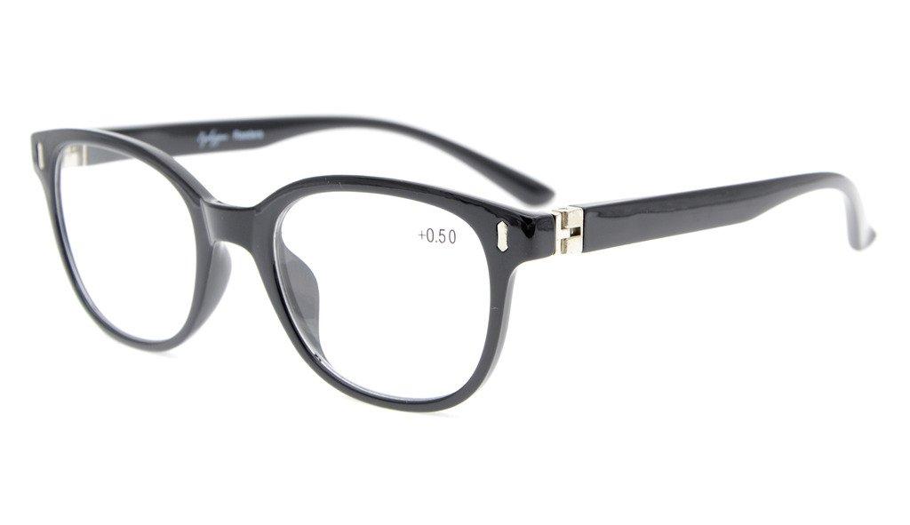1bd259d1a6ce Amazon.com  Eyekepper Readers Men Women Reading Glasses Unique 180 Degree Spring  Hinges Black +4.0  Health   Personal Care