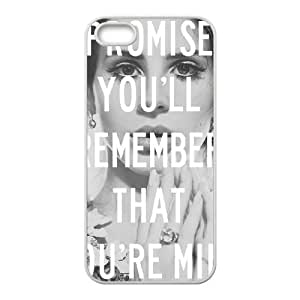 Qxhu Lana Del Rey patterns Hard Plastic Cover Case for Iphone5,5S