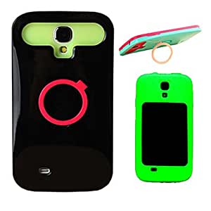 Glow in The Dark Silicone Liner Hard Case for Samsung Galaxy S4 i9500 --- COLOR:Blue