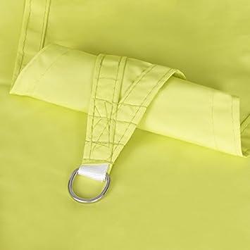 YoungShade 16 x 16 x 16 Light Green Color Sun Shade Sail Triangle Waterproof Woven Sun Shelter Shade Cloth