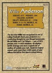 Amazon.com: 1996 Topps #431 Willie Anderson RC Near Mint/Mint: Collectibles & Fine Art