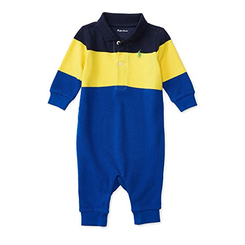 Ralph Lauren Baby Boys' Coverall (6 Months, French (Mesh Polo Coverall)