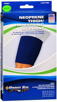 Sport Aid Neoprene Thigh/Hamstring Support, Medium - 1 ea., Pack of 6 by SportAid