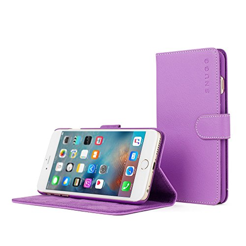Snugg Leather Wallet iPhone Purple