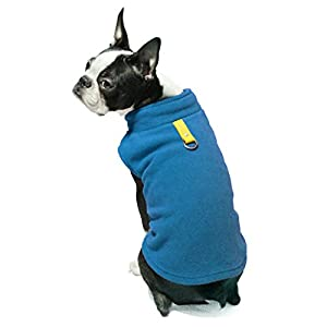 Gooby Every Day Fleece Cold Weather Dog Vest for Small Dogs, Deep Blue, X-Small