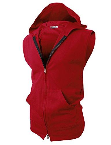 H2H Fashion Lightweight Sleeveless Hoodies