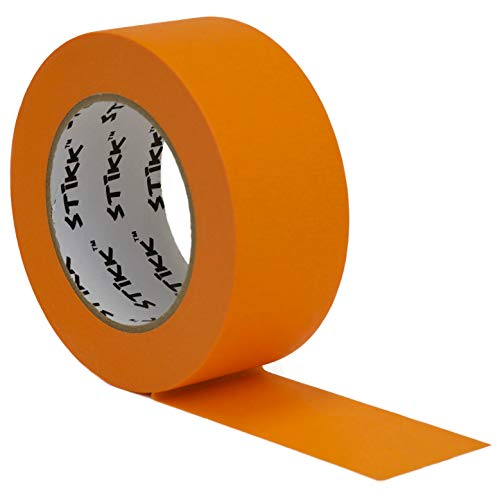 Orange Painters Tape 14 Day Easy Removal Trim Edge Finishing Decorative Marking Masking Tape (1.88 in 48MM) ()