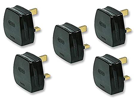 13 Amp Rubber Plug /& Socket 13A Heavy Duty Mains Electrical 3pin Black