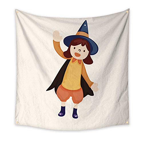 BlountDecor Colorful Tapestry Halloween Party Costume Theme Elements 47W x 47L Inch -
