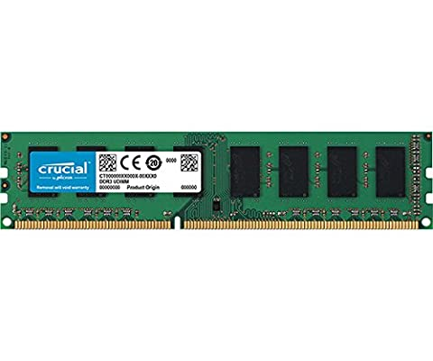 Crucial 4GB Single DDR3L 1600 MT/s (PC3L-12800) Unbuffered UDIMM Memory CT51264BD160B - Maximus Formula