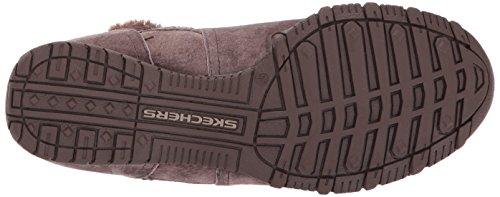 Noir chocolate Femme Bottes Bikers Skechers Marron flare zBRBIS