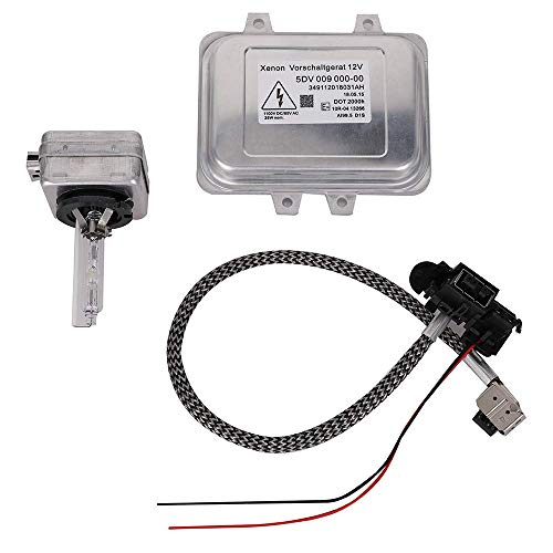 5DV 009 000-00 Xenon Hid Headlight Ballast Control Unit with Igniter and D1S Bulb for 2007-2014 Cadillac Escalade & 2006-2009 BMW E60 & 2008-2014 Chrysler Town Country (2005 Chrysler Town And Country Body Control Module)