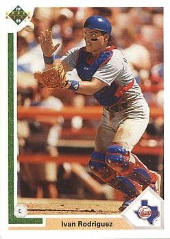 1991 Upper Deck Final Edition Baseball #55F Ivan Rodriguez Rookie Card (Ivan Pudge Rodriguez)