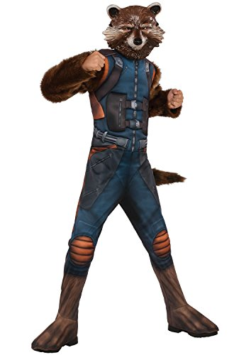 (Rubie's Guardians of The Galaxy Vol. 2 Deluxe Muscle Chest Rocket Raccoon Costume,)