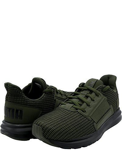 Puma Mens Enzo Street Knit Sneaker Forest Night-puma Nero