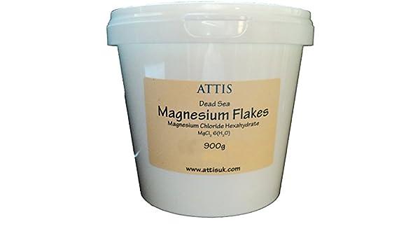 ATTIS - Hojuelas de Cloruro de Magnesio del Mar Muerto - 900g: Amazon.es: Salud y cuidado personal