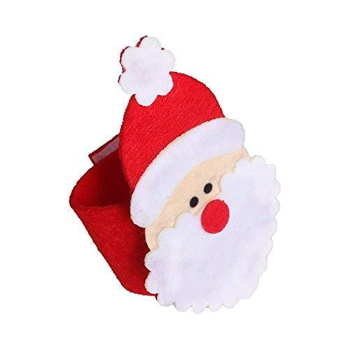 - Cactus 7 PCS Christmas Decoration Santa Claus Napkin Rings Table Serviette Holder Party Banquet Dinner Table Decoration