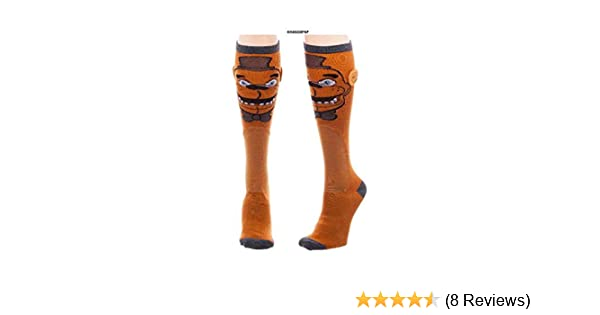 a7b4e6b6b60 Amazon.com  Five Nights at Freddy s Knee High Socks  Clothing