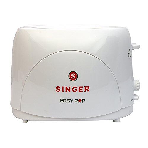 Singer Easy Pop 700 watts 2 Slice Pop up Toaster (White)