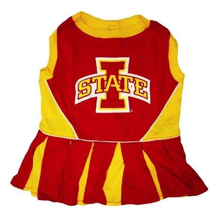Iowa State Cyclone Dog Cheer Leading Dress & Leash Set Size MD