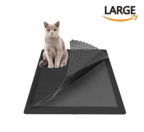 Highland Farms Select Cat Litter Trapper- Cat Litter Box Mat Water Proof Layer and Puppy Pad Option,Large 30