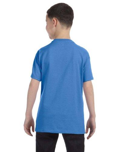 Jerzees Youth 5.6 oz., 50/50 Heavyweight Blend T-Shirt, XL, COLUMBIA BLUE (Heavyweight Youth Jerzees Blend)