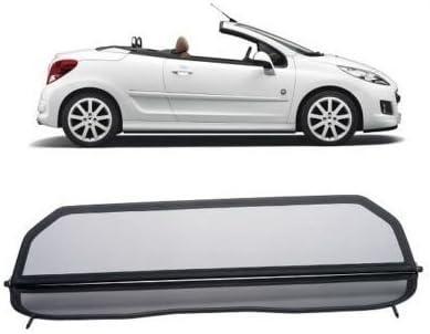 Germantuningparts Windschott Für Peugeot 207 Cabriolet Klappbar Mit Schnellverschluss Schwarz Windabweiser Windblocker Wind Deflector Auto