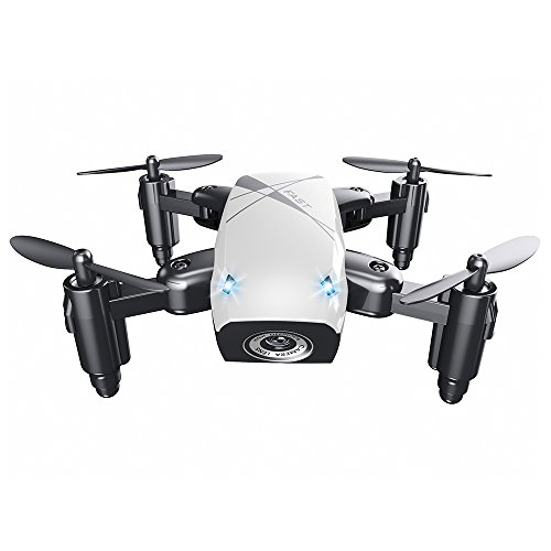 EISHOW S9 Micro Foldable RC Quadcopter Drone RTF 2.4GHz Wireless Remote Control 4CH 6-axis Gyro/Headless Mode/One Key Return / 3D Rollover (White, WiFi FPV 0.3MP Camera + Altitude Hold) (Micro Camera For Rc Wireless)