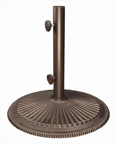 SimplyShade Coral Cast Iron Free Standing Umbrella Base in Bronze by SimplyShade