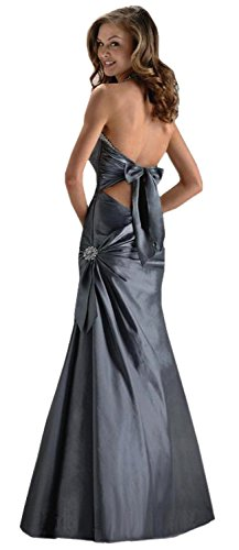 Gorgeous Halter-neck Evening Dress Prom Ball Gown in Purple, Black, Red, Dark Blue and Silver colours-ED8901 Lila