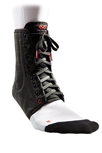 McDavid Classic White Lightweight Laced Ankle Brace , Black, medium (Renewed)