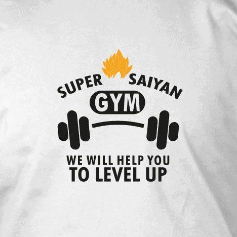 Level up Gym - Damen T-Shirt, Größe: XL, Farbe: blau