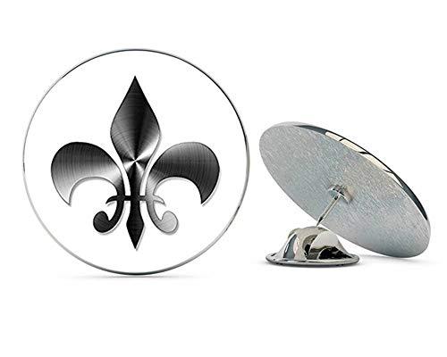 Fleur De Lis Tie Pin - NYC Jewelers Stainless Steel Look: Fleur De Lis Shaped (Non-Reflective Vinyl New Orleans) Metal 0.75