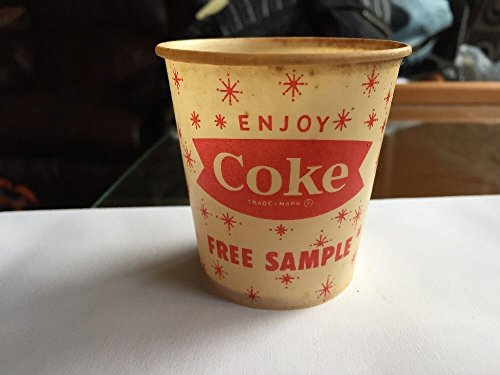 1950's-60's Coca-Cola Free Sample Wax Cup (Fish Tail ()