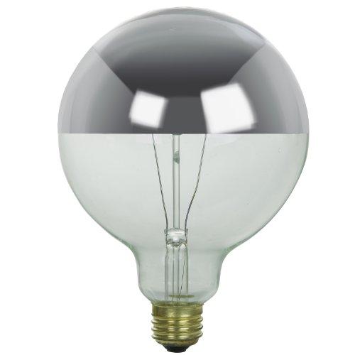 Sunlite 60G40/SB Incandescent 60-Watt, Medium Based, G40 Globe Silverbowl Bulb, Silverbowl