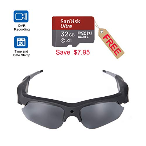 Camera Video Sunglasses,1080P Full HD Video Recording Camera with 32GB Built-in Memory,Camera Glasses