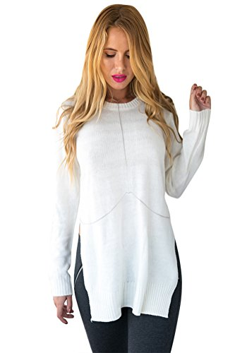 LookbookStore Womens Sleeves Loose Sweater