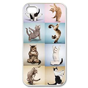 Yoga Cats Unique Fashion Printing Phone Case for Iphone 4,4S,personalized cover case ygtg573068