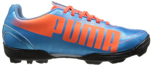 Puma Evospeed 5.2 Tt Jr - Botas de fútbol Unisex Niños Azul (Blau (sharks blue-fluro peach-fluro yellow 04))
