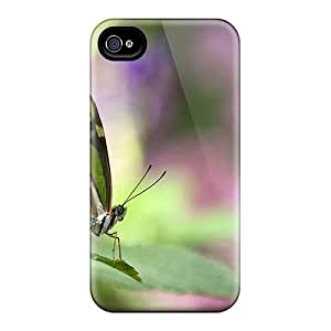 LauraKrasowski Fashion Protective Green Butterfly Cases Covers For Iphone 6