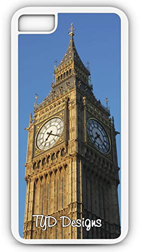 iPhone 8 Plus 8+ Case Big Ben Elizabeth Tower Clock Westminster Customizable TYD Designs in White Rubber