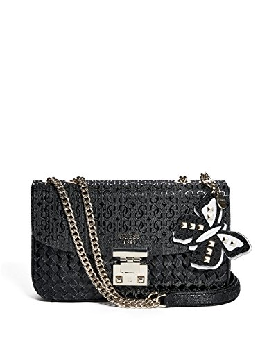 Guess Borsa Donna Flutter Convertible xbody Flap Black