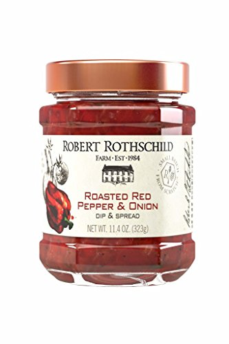 Robert Rothschild Farm Roasted Red Pepper & Onion Dip (11.4 oz) - Dip & Spread - Sauce for Chicken, Meatloaf, Salmon - Gluten Free and Certified Kosher -