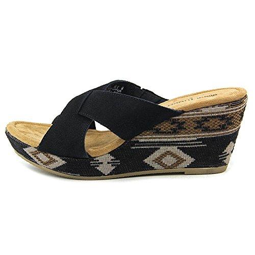 Robe Antigua Womens Minnetonka Sandale Noir / Baja Tissu Wrap