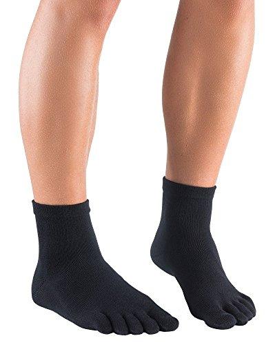 Dr. Foot Silver Protect® Sneaker - Antimikrobielle Zehensocken, knöchellang, Größe:39-42;Farbe:schwarz