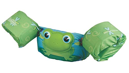 Stearns Puddle Jumper Deluxe 3D Life Jacket, Green Frog, 30-50 lbs ()