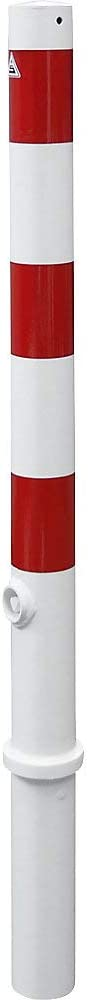 rot Pfosten herausnehmbar mit Dreikantverschluss Schake Absperrpfosten HD /Ø 76 mm wei/ß