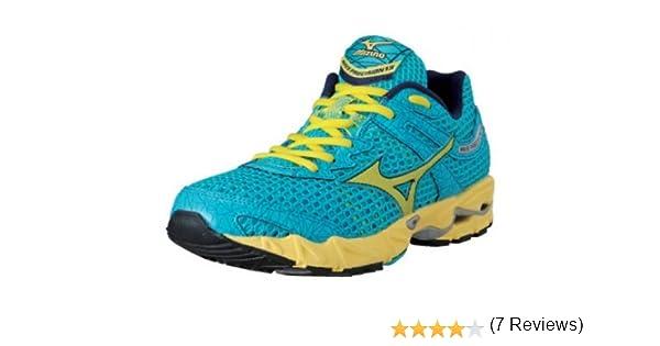 MIZUNO Wave Precision 13 Zapatilla de Running Señora, Azul/Amarillo, 36.5: Amazon.es: Zapatos y complementos