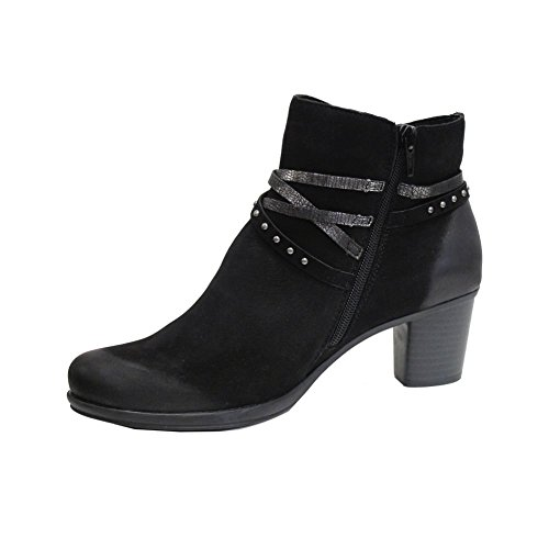 Remonte Combination 02 EU Ankle Dorndorf Heeled 41 Boot R1580 Remonte Black twq586nfn